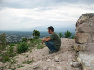 Art Thomas praying over the city in Honduras