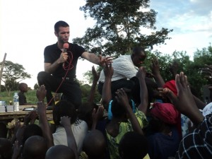 Art Thomas ministering the Gospel in Uganda